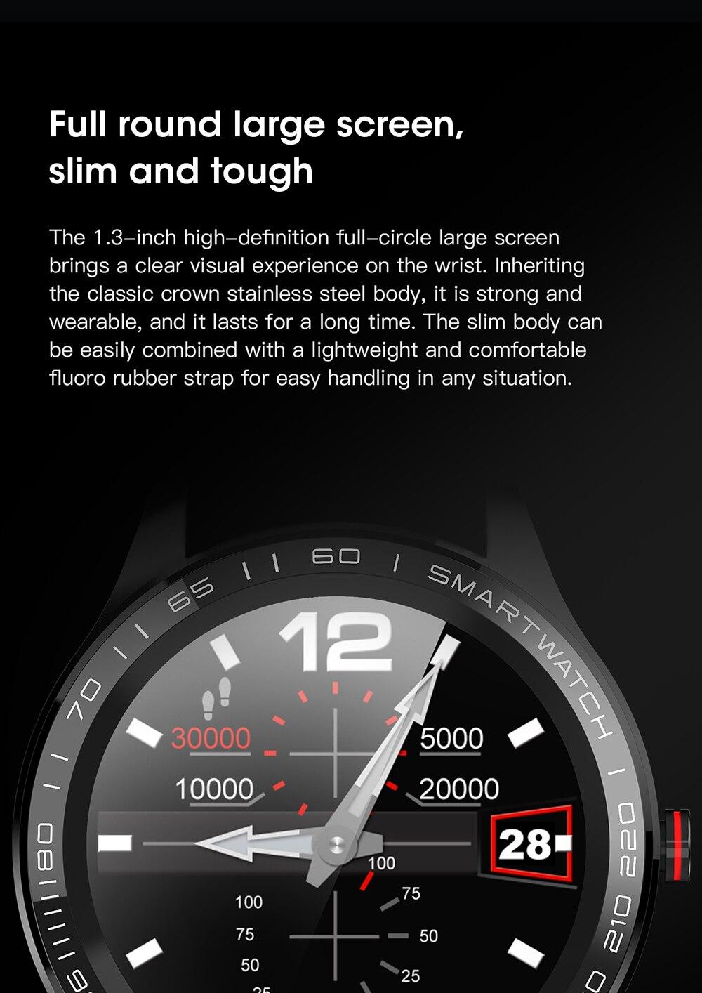 H05f464402f6d415099261991785ac76dM 696 L9 Full touch Smart Watch Men ECG+PPG Heart Rate Blood Pressure oxygen Monitor IP68 Waterproof Bluetooth Smart Bracelet