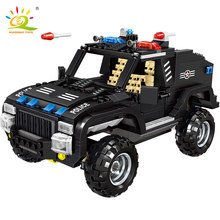 HUIQIBAO TOYS 630pcs SWAT Armored Vehicle soldiers Building Blocks For Children Legoingly City Trucks Policeman Figures Bricks(China)