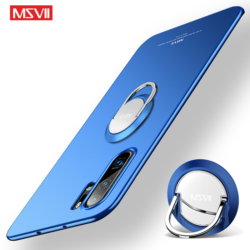 Note 10 Pro Case Finger Ring MSVII Slim Matte Cover For Xiaomi Mi Note 10 Case Holder Stand Frosted Back Cover Xiomi Mi Note 10