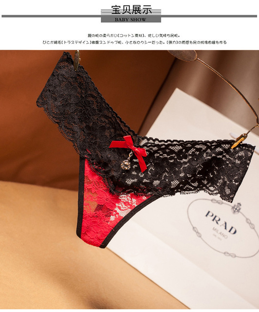 women Sexy Micro Lace Patchwork G string lace thong panties underwears new styles 2019 6
