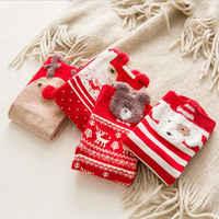 1 pair colored cotton red socks three-dimensional cartoon christmas socks cute Japanese ladies socks for autumn and winter socks