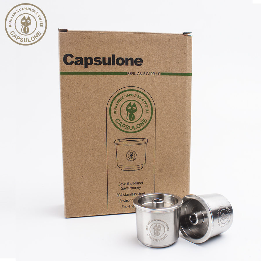 Capsulone Refillable Coffee Capsule Pod Resuable Filter Cup Fit For Illy Coffee Machine  Metal Stainless Steel Coffee Capsule