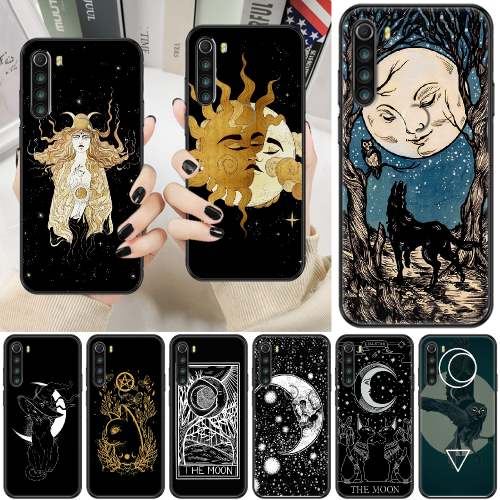 Witches moon Tarot Mystery totem Phone case For Xiaomi Redmi Note 7 7A 8 8T 9 9A 9S K30 Pro Ultra black luxury Etui 3D