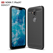 For Nokia X7 2018 Case Silicone Shockproof Anti-knock 8.1 Cover 6.18