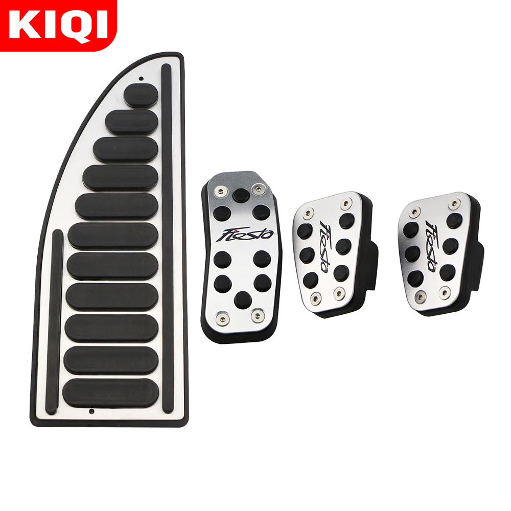 Car Pedals Fit for Ford Fiesta MK7 2009 - 2018  AT MT Accelerator Gas Pedal Cover Aluminium Alloy Rubber
