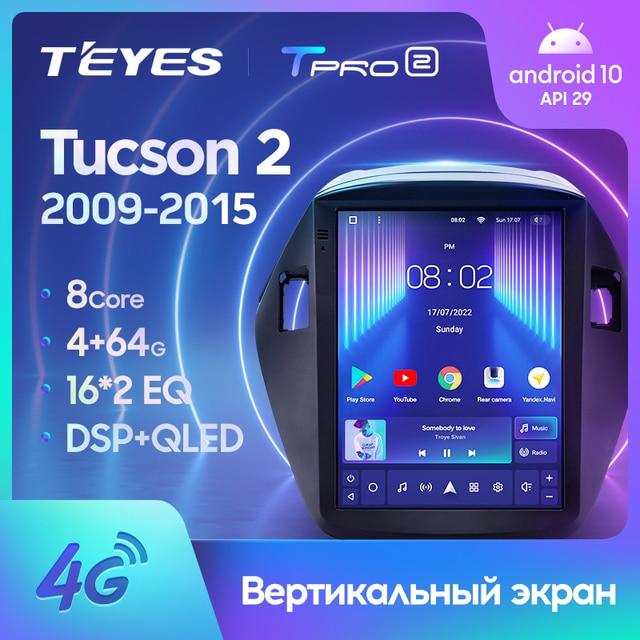 TEYES TPRO 2 Штатная магнитола For Хендай Туксон 2 LM For Hyundai Tucson 2 IX35 2009 - 2015 For Tesla style screen For Тесла Стиль Экран Android 2DIN автомагнитола 2 DIN GPS мультимедиа автомобиля головное устройство 1