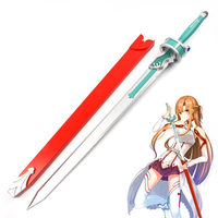 [Funny] 117cm Cosplay Anime sword Art Online Yuuki Asuna weapon Asuna Yuuki wooden Sword model Costume party Anime show props