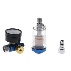 Image 2 - Spray Paint Gun Air Regulator Gauge & In line Air Oil Water Separator Filter Kit S02 Wholesale&DropShip
