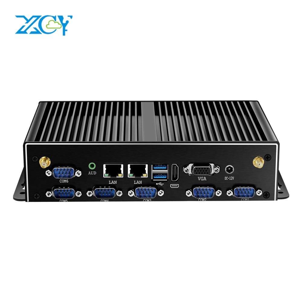 XCY Mini PC Intel Core I7 5500U I5 I3 Computer 2*LAN 6*RS232 4*USB HDMI VGA WiFi 3G 4G Embedded Industrial Micro Windows 7 Linux