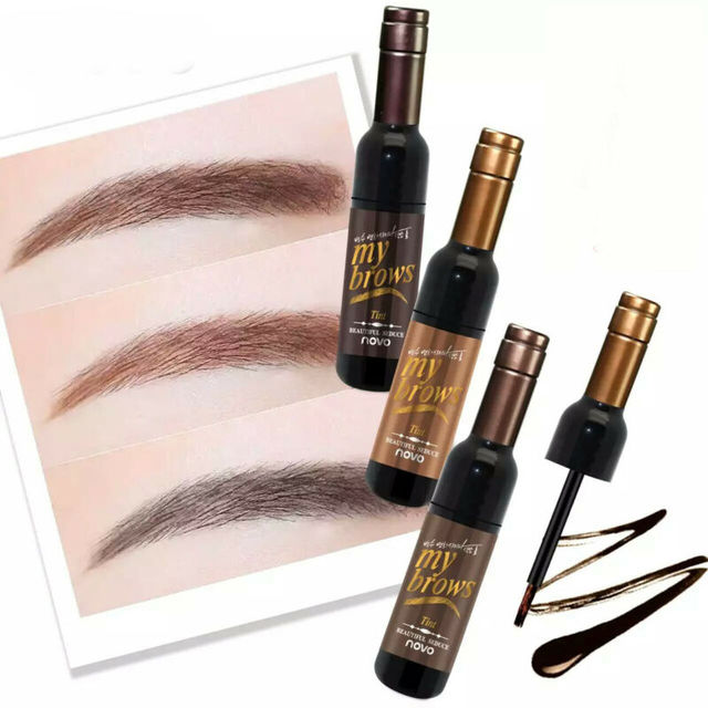 Peel-off Tattoo Eyebrow Gel Long-lasting Dye Tinted Brow Cream Waterproof Paint Makeup Eye Tint Cosmetics Black Brown Eyebrows 3
