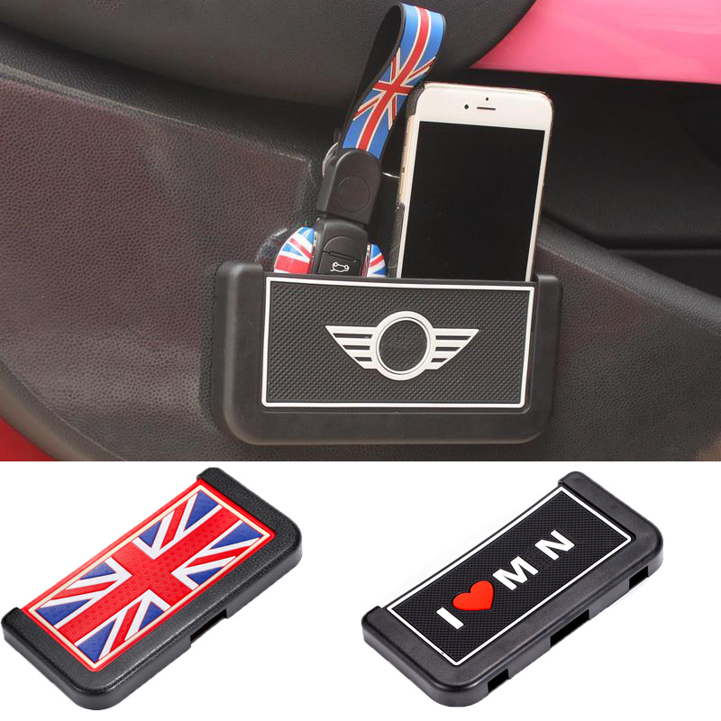 Universal Car Door Storage Box Key Mobile Phone Card Note <font><b>Holder</b></font> Decoration For <font><b>MINI</b></font> Cooper One R55 R56 R60 F55 <font><b>F56</b></font> Accessories image