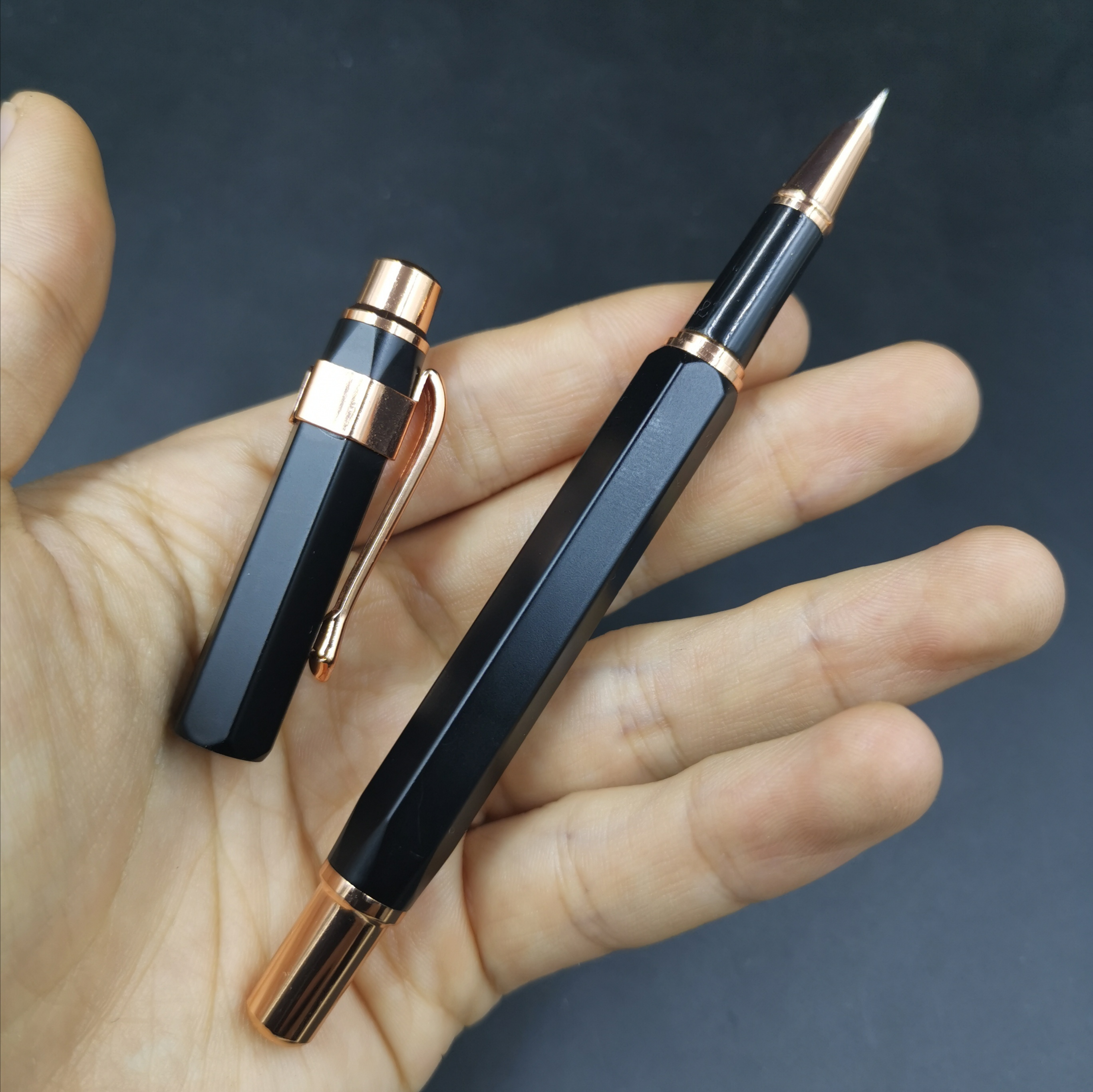Rare Old Stock Wing Sung 095 Fountain Pen Hexagon Ink Pen F Nib 2015S Stock Stationery Office School Supplies Penna Stilografica