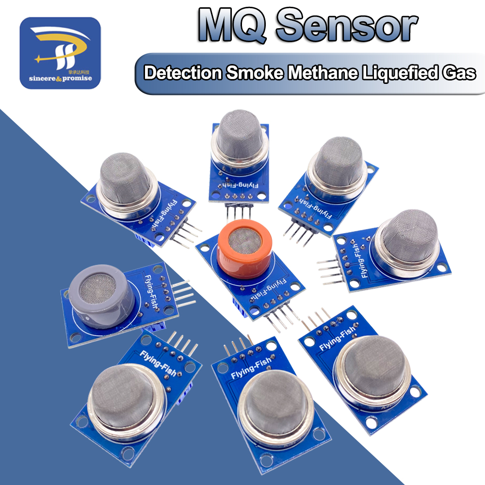 MQ-2 MQ-3 MQ-4 MQ-5 MQ-6 MQ-7 MQ-8 MQ-9 MQ-135 Detection Smoke methane liquefied Gas Sensor Module for Arduino Starter DIY Kit(China)