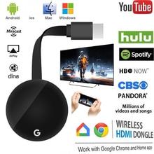 HDMI TV çubuk mini PC 4K Ultra kablosuz Anycast Miracast AirPlay çift Wifi desteği Youtube Google Chromecast MI TV çubuk mini PC Android