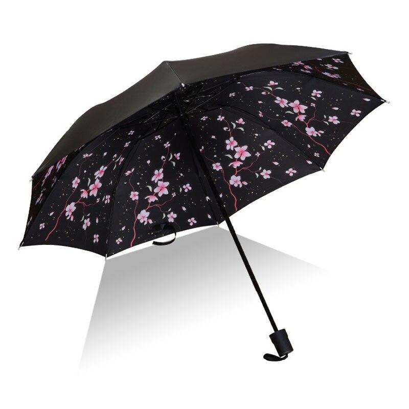 Men Women Sun Rain Umbrella UV Protection Windproof Folding Compact Outdoor Travel Umbrellas B99