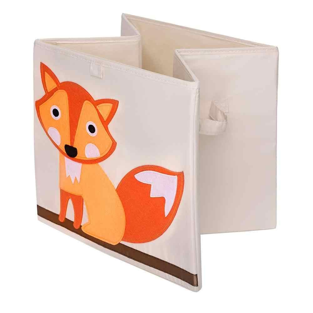 Nuovo 13 pollici Animale Del Fumetto Cubo Scatola di Immagazzinaggio Pieghevole Lavato Panno di Oxford Tessuto Contenitori di Stoccaggio Per I Giocattoli Organizzatori di Stoccaggio Cestino