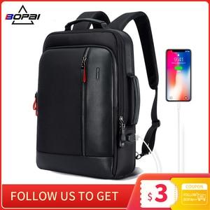 Image 1 - BOPAIป้องกันการโจรกรรมกระเป๋าเป้สะพายหลังขยายภายนอกUSBชาร์จ15.6นิ้วแล็ปท็อปกระเป๋าเป้สะพายหลังผู้ชายกระเป๋ากันน้ำกระเป๋าเป้สะพายหลังสำหรับวัยรุ่น