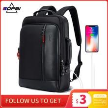 BOPAI grand sac à dos antivol 15.6 pouces, Charge externe USB, sac à dos pour ordinateur portable pouces, cartable étanche pour adolescents