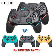 Controlador sem fio bluetooth para nintend switch pro console gamepads ns switch pro jogo joystick com 6-axis alça para N-SL