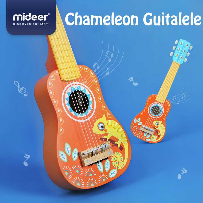 Mideer Del Bambino Chitarra Chitarra di Legno per Bambini Giocattolo di Musica Chitarra Ukulele Tiglio 6 String Guitarra Concerto Musicale Educativo per Bambini Regalo