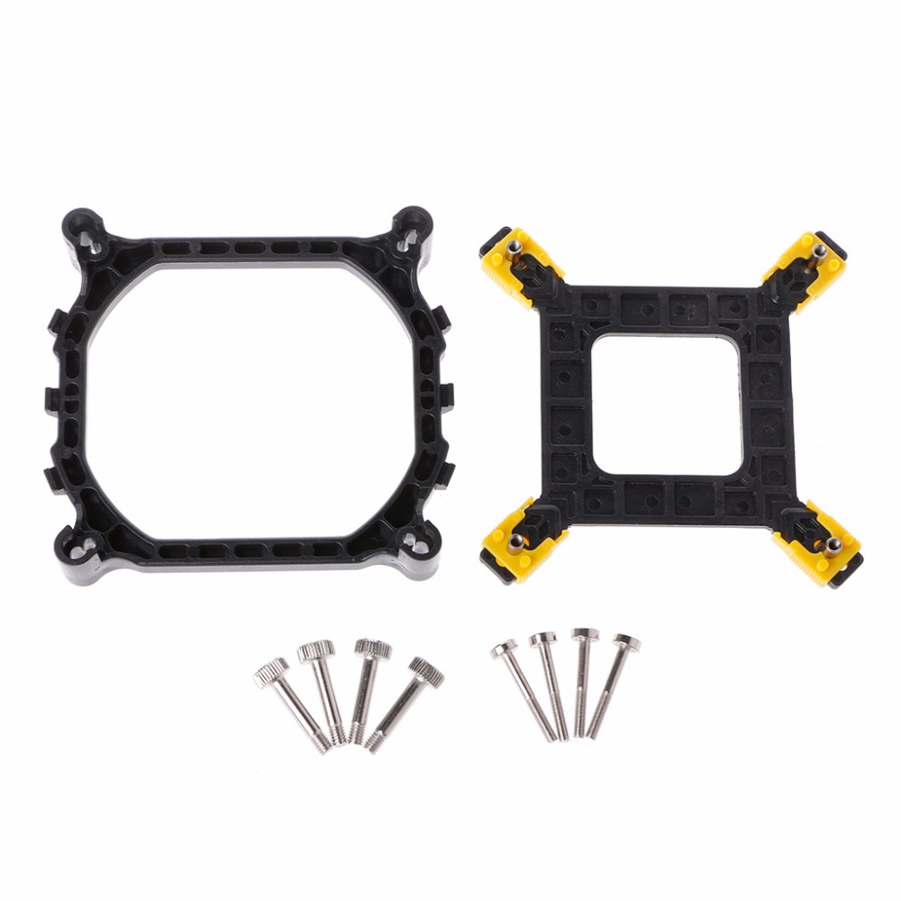 NEW PC Desktop <font><b>CPU</b></font> Heatsink Mounting Bracket Holder Base Backplate Kit For Intel <font><b>115X</b></font>/1366/2011 Socket <font><b>CPU</b></font> <font><b>Cooler</b></font> Fan Holder image