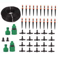 20M Micro Drip Adjustable Automatic Watering Garden Irrigation Automatic Drip Watering Kit Spray Cooling Potted Lawn Garden DIY