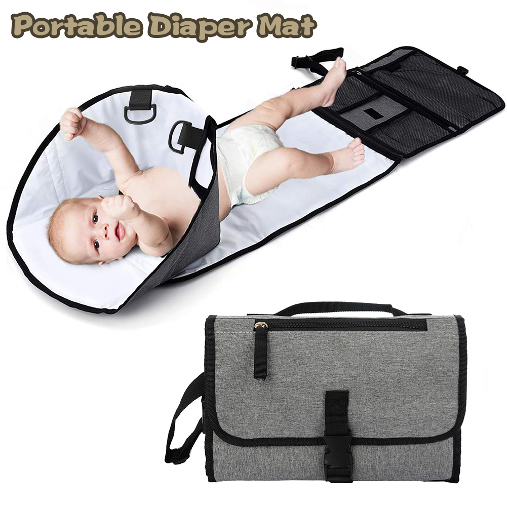 New 3 In 1 Waterproof Changing Pad Diaper Travel Multi-function Portable Baby Diaper Cover Mat Clean Hand Folding Diaper Bag