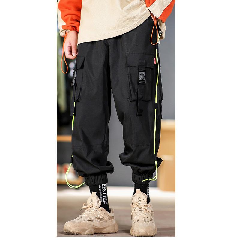 iiDossan 2020 Multi-pockets Cargo Pants Men Waist Design Harem Pant Streetwear Punk Hip Hop Casual Trousers Joggers Pretty Style