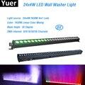 Бесплатная доставка, 8 шт./лот, 24x4 Вт, высококачественный светодиодный настенный светильник RGBW, светодиодный светильник для бара, DMX, внутрен...
