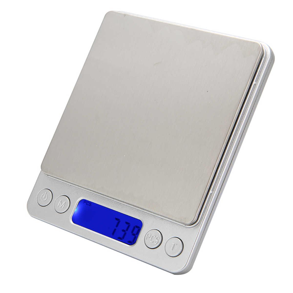 Цифровые Мини-весы 500 г/0,01 г с ЖК-дисплеем, электронные весы для драгоценностей, кухонные весы