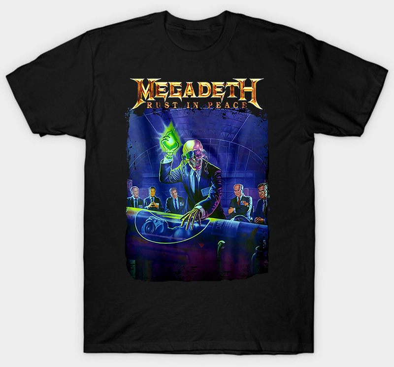 Peace Megadeth Rust T Shirt Black So Metal Band Rock Size