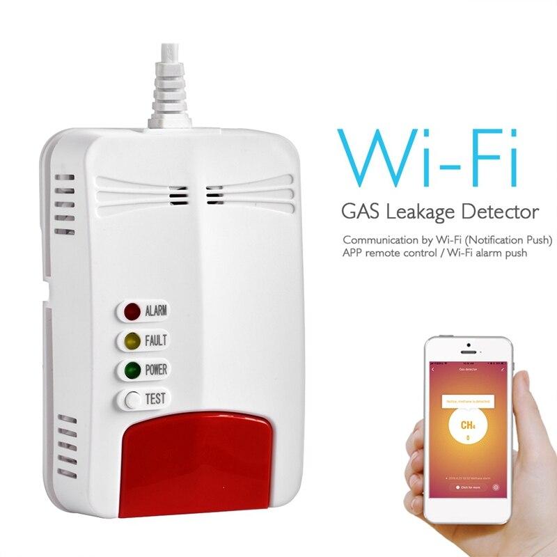 IG-Wifi Gas Sensor Gas Leak Detector Alarm Tuya Smart Life App Smart Home Security Works With Alexa Google Home IFTTT EU Plug