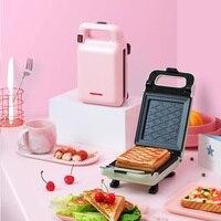 220 v 전기 샌드위치 아침 식사 메이커 기계 비 스틱 휴대용 토스트 빵 베이킹 팬 eu/uk/au/us 플러그 가능