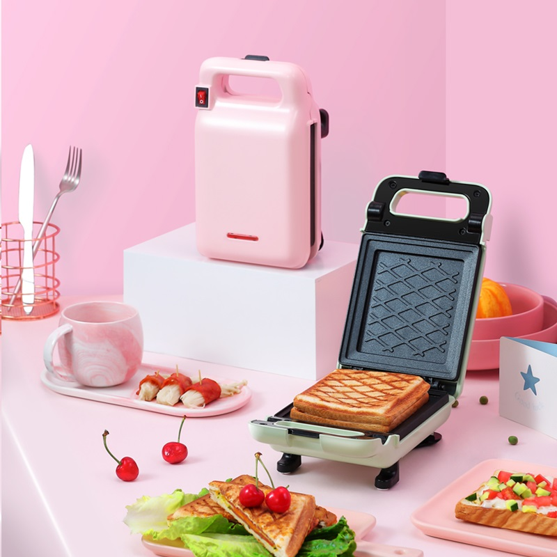 220V Electric Sandwich Breakfast Maker Machine Non-stick Portable Toast Bread Baking Pan EU/UK/AU/US Plug Available