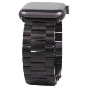 Ремешок для Apple Watch 5 4 3 2 1 42 мм 38 мм 40 мм 44 мм металлический браслет из нержавеющей стали ремешок для iWatch серии Аксессуары
