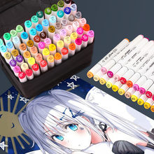 Chenyu 30/40/60/80 cores marcadores de álcool oleoso conjunto pontas duplas marcador de arte caneta pincel esboçar para desenho animação arte suprimentos