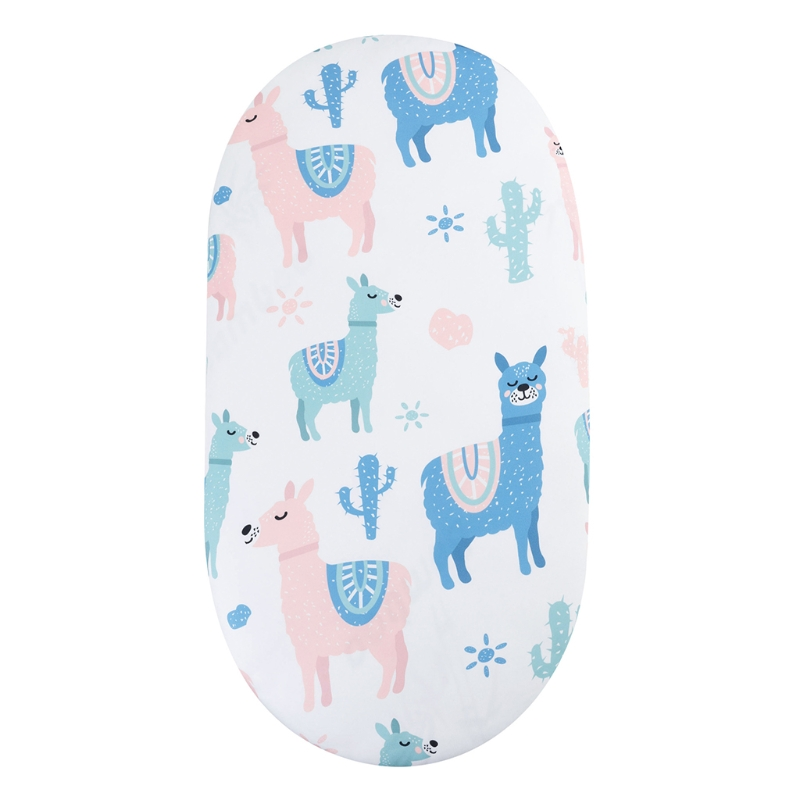 77HD Baby Moses Basket Bed Crib Care Pad Covers Print Fitted Sheet for Mattress Mat