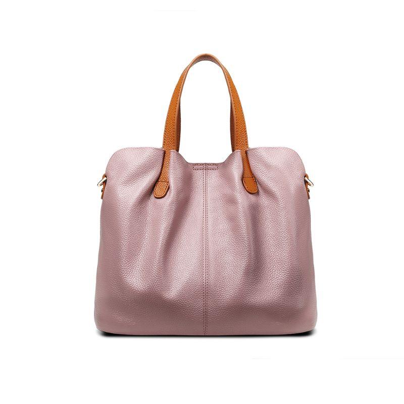 2 pièces en cuir véritable sacoche bandoulière sac fourre-tout sac à main avec sac intérieur sac à main pour les femmes plage voyage fête utilisation fournitures