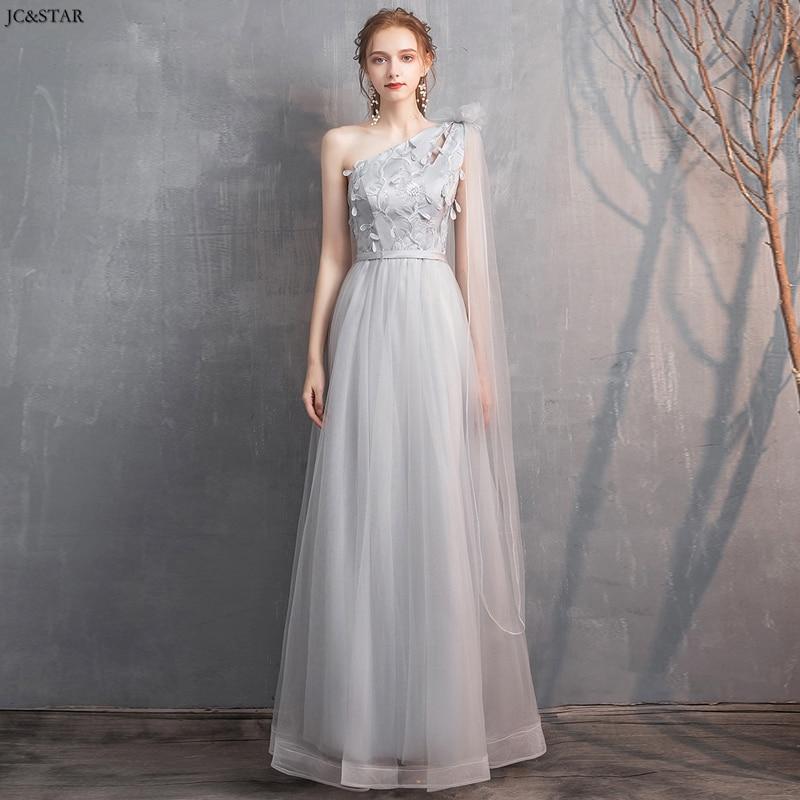 Abito damigella new lace star 4 style A Line grey bridesmaid dress long vestido dama de honra wedding guest dress Plus size