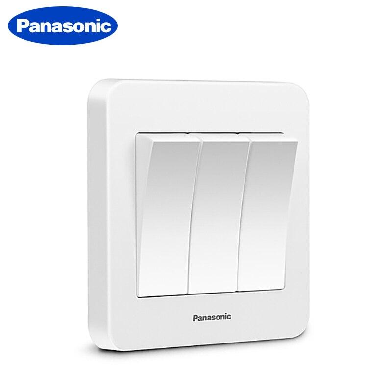 Interruptor luz LED para lámpara Panasonic Interruptor de luz 1 Gang 2 Gang 3 4 Gang Interruptor de pared