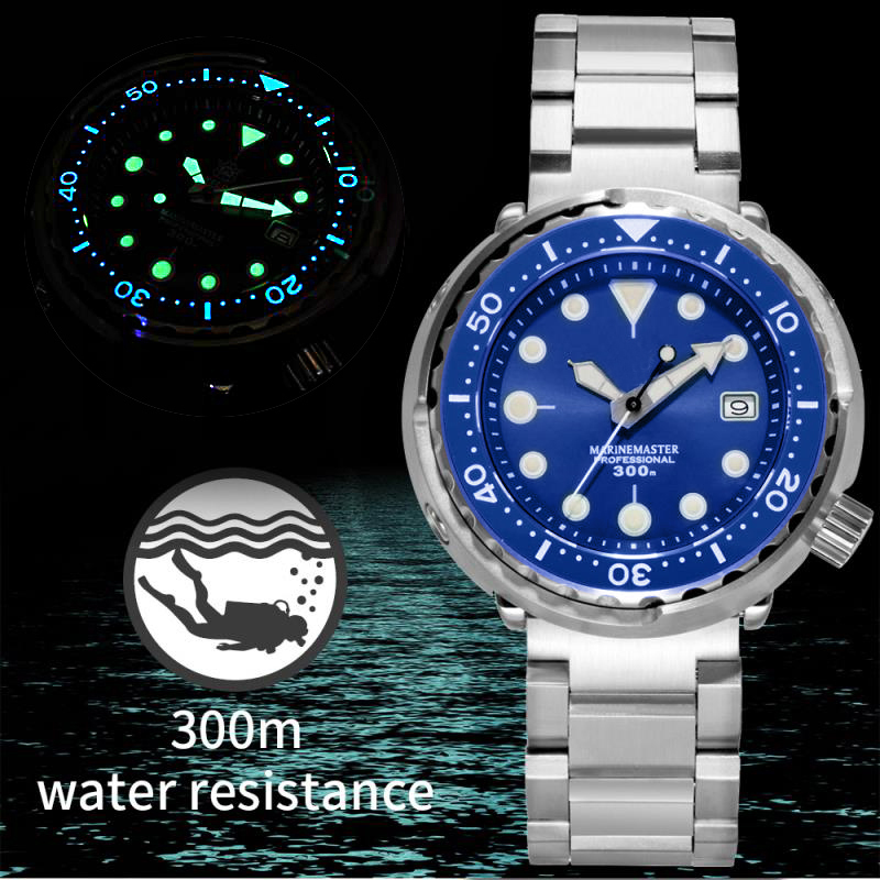 First Canned Tuna Dive Watch Super Luminous Automatic Watch Man Mechanical Watch NH35 300M Diver Watches Sapphire Crystal image