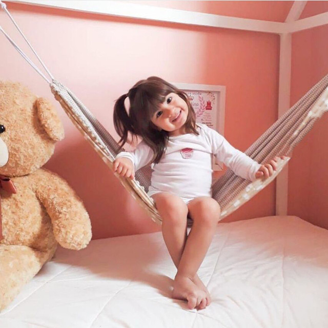 Baby Cribs Hanging Hammock Detachable Portable Folding Indoor Room Outdoor Swing Safety Infant Sleeping Bed Kids Funny Swing 6