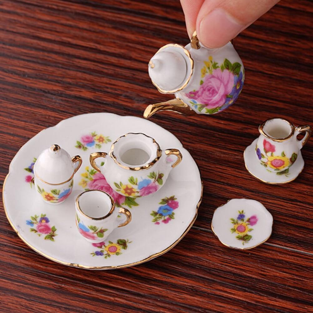 Dollhouse miniature Oriental accessories 1:12 Chinese Tea Tin