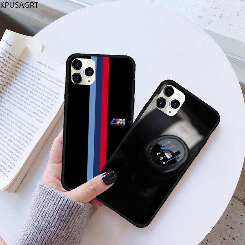 USAKPGRT Germany Luxury M BMW Black TPU Soft Phone Case Rubber for iPhone 11 pro XS MAX 8 7 6 6S Plus X 5S SE 2020 XR case image