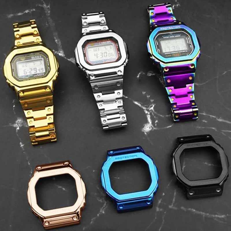Dw5600 Strap Watch Band Bezel 5600 Metal Gwm5610 Gw5000 Stainless Steel Watchband Case Frame Bracelet Repair Tools Wholesale Watchbands Aliexpress