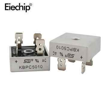 Diodo de Puente rectificador de diodo KBPC5010, 50A, 1000V, rectificador de potencia KBPC 5010, componentes electrónicos, 2 uds.
