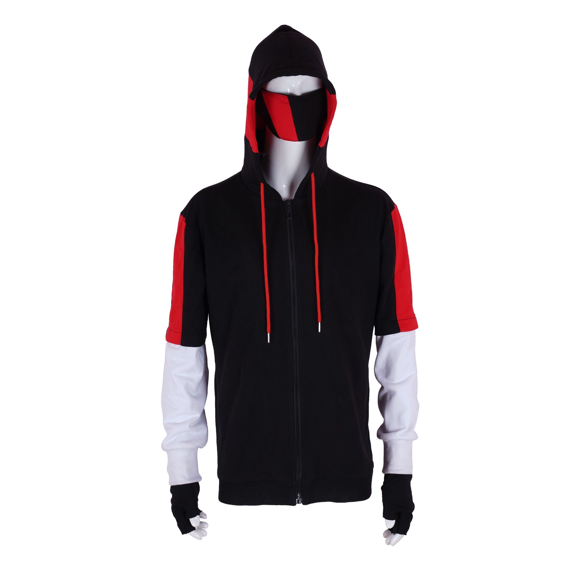 Jogo ikonik pele cosplay traje hoodies com zíper jaqueta máscara luva define traje de halloween