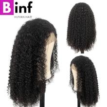 """360 парик с фронтальной тесьмой, высокое качество, бразильские кудрявые вьющиеся волосы remy, 1""""-24"""" дюймов, 150% плотность, предварительно выщипанные с детскими волосами, цвет 1b"""