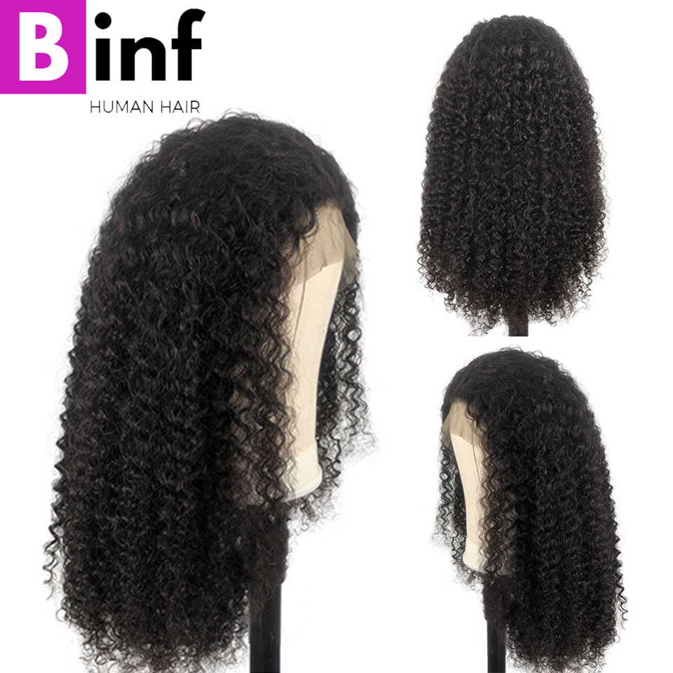 360 Lace Frontal Wig High Ration Brazilian Kinky Curly Remy Hair 10