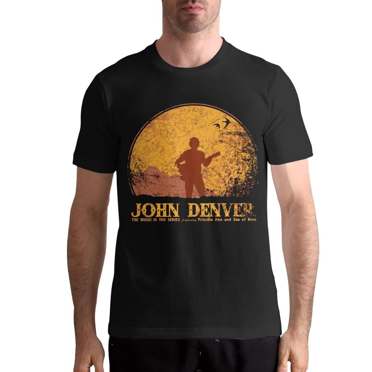 John Denver T Shirt Men's Cotton T Shirt Fashion Round Neck Short Sleeve Tops Tees 100 % Cotton T Shirt For Boy